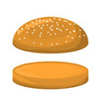 empty hamburger roll symbol icon design vector image
