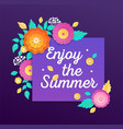 enjoy the summer - modern colorful vector image vector image