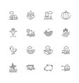 farm icons agricultural objects agrarian farm vector image vector image