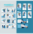 fashion social media post promotion collection vector image vector image