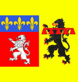 flag of rhone is a department in central eastern vector image