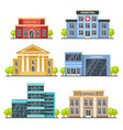 flat city buildings contemporary office center vector image