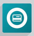 flat credit card icon vector image vector image