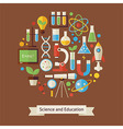 Flat Style Education and Science Objects Concept vector image vector image