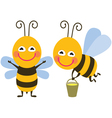 Funny bees vector image vector image