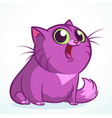 funny fat cat cartoon vector image