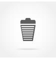 garbage basket icon vector image