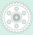 gear and bearing vector image