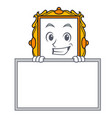 grinning with board picture frame character vector image