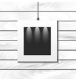 Hanging photo frame for picture placement vector image vector image