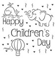 happy childrens day art vector image vector image