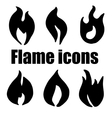 High quality original flame icons set for web vector image