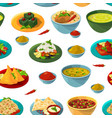 indian national foods seamless pattern vector image