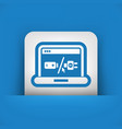 laptop battery charge concept vector image