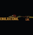ldl cholesterol text background word cloud concept vector image vector image