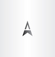 letter a arrow black symbol vector image