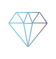 line cute diamond elegant accessory design vector image vector image
