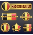 made in Belgium vector image vector image