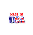 made in usa american flag icon vector image vector image