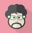 Man Single Mans Face Flat Design Icon vector image vector image