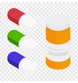 medical pills and drug bottle vector image vector image