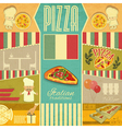 Menu for Pizzeria vector image vector image