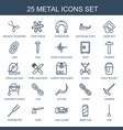 metal icons vector image vector image
