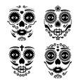 mexican la catrina face design vector image