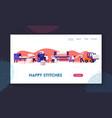 modern textile factory website landing page vector image vector image