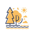 nature - modern single line icon vector image vector image