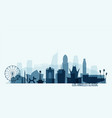 new york skyline buildings vector image vector image