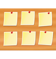notes pinned to wood vector image