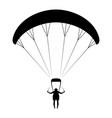 paraglider vector image