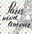 paris my love lettering sign french words vector image