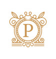 premium letter p logo design template vector image vector image