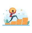profit growth concept vector image vector image