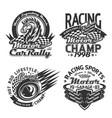 racing sport and car rally t-shirt print mockups vector image vector image