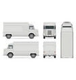 retro food truck template vector image vector image