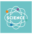 science atom icon blue background image vector image vector image