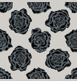 Seamless pattern with hand drawn stylized roses