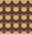 seamless teddy bear pattern pattern design vector image vector image