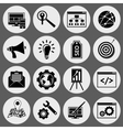 SEO icons black set vector image vector image