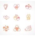 set family logos vector image