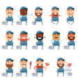 set flat plumber icons vector image