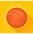 Sports with basketball ball in flat style vector image