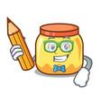 student cream jar character cartoon vector image