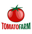 tomato logo on white background vector image vector image