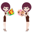 two women thick and thin vector image