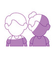 upperbody cute couple vector image vector image