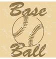 Vintage baseball vector image